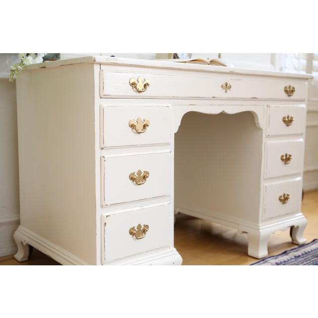 Shabby Chic Vintage Whitney Solid Wood Desk - Image 10 of 11