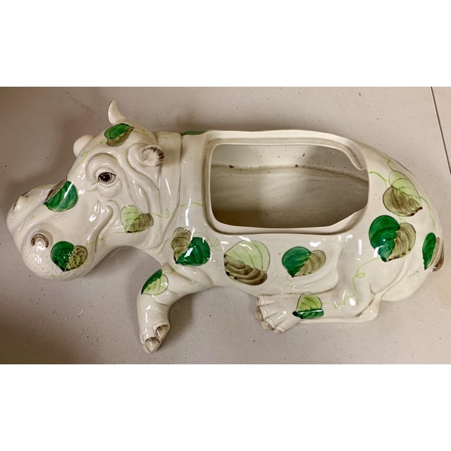 Ceramic Fitz & Floyd Hippo Serving Piece / Flower Frog For Sale - Image 7 of 9