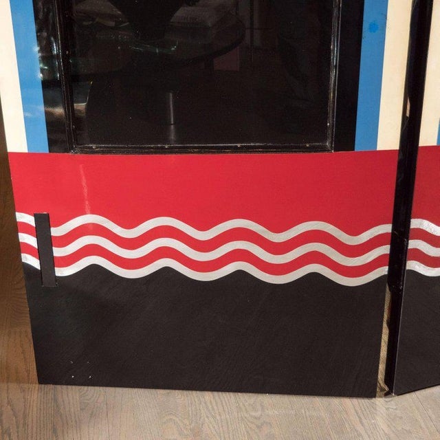 Art Deco Bakelite and Black Lacquer Doors or Theatre Screens by Robert Eberson For Sale - Image 4 of 11