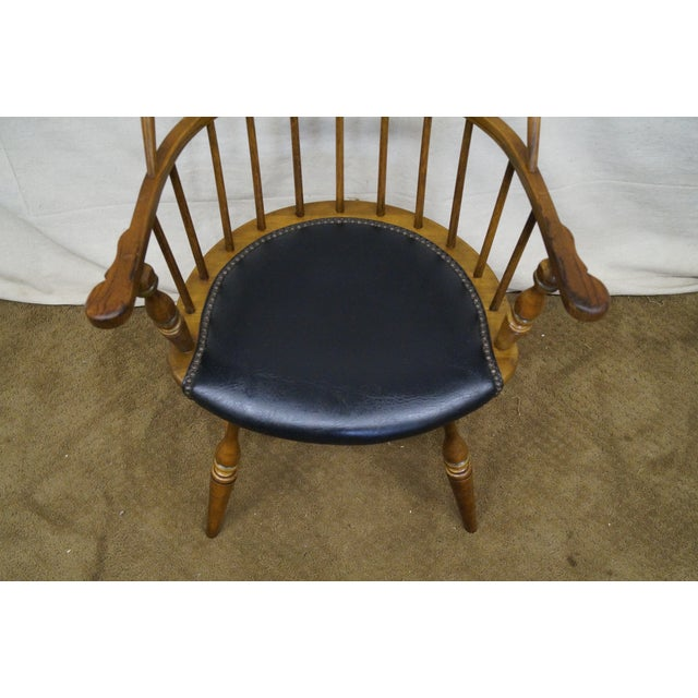 Frederick Duckloe Vintage Loop Back Arm Chair For Sale - Image 9 of 9