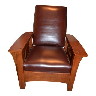 Stickley Band Arm Morris Chair For Sale