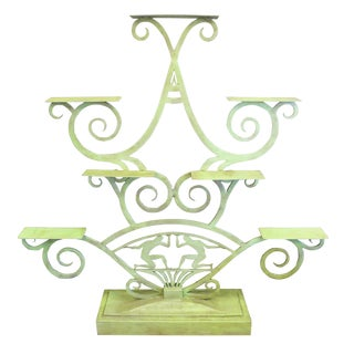 Art Deco Painted Iron Display Unit For Sale