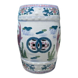 Mid-Century Ceramic Chinois Garden Seat For Sale