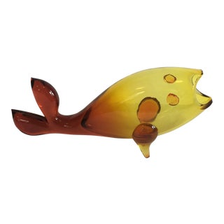 Blenko Glass Fish Amerina