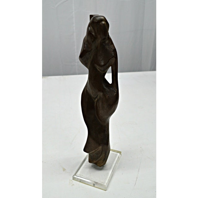 Hand Carved Wood Female Nude Sculpture - Image 10 of 11