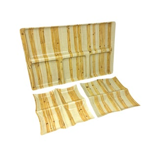 Vintage Bamboo Print Melamine Tray and Plates For Sale