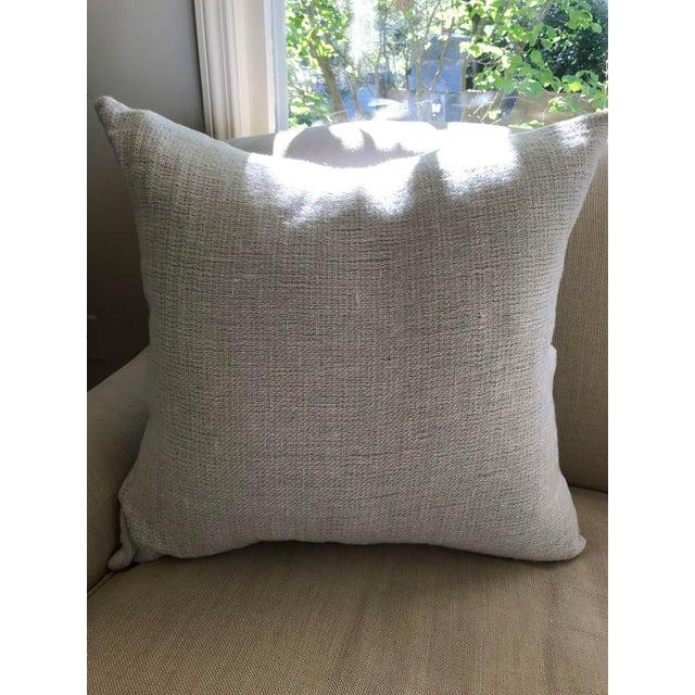 Pale Blue Cotton Pillows - a Pair - Image 3 of 5