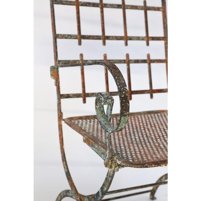 1910s Pair of French Iron Garden Chairs For Sale - Image 5 of 13