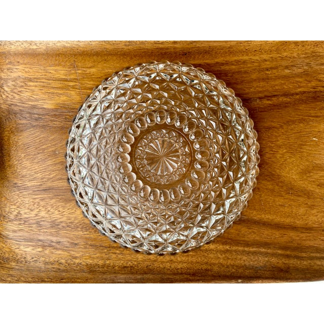 American Vintage Textured Glass Catchall Dish For Sale - Image 3 of 11