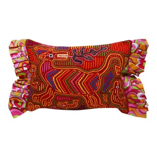 Tribal Mola Panama Pillow Cover For Sale