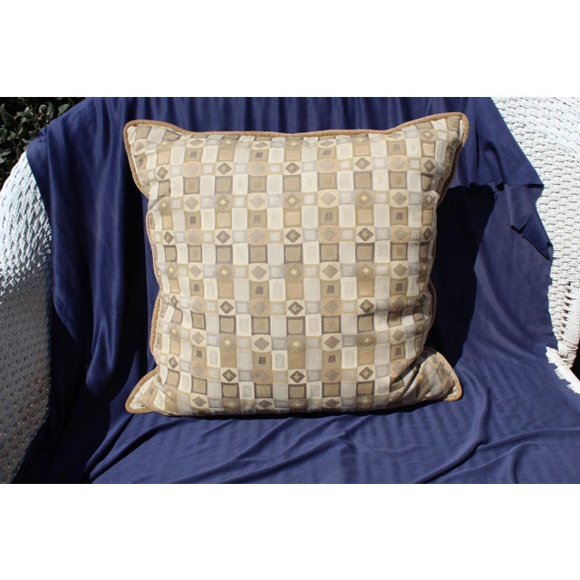 Modern Possible Mid Century Down Filled, Nice Deep Sized Pillow For Sale - Image 3 of 3