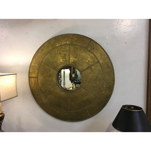 Sarreid Hammered Brass Mirror For Sale - Image 10 of 10