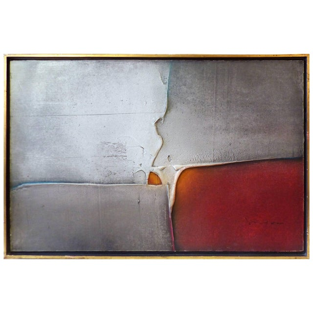 Abstract Oil on Canvas by Louis Moyano 'Chile 1929-Paris 1965' For Sale