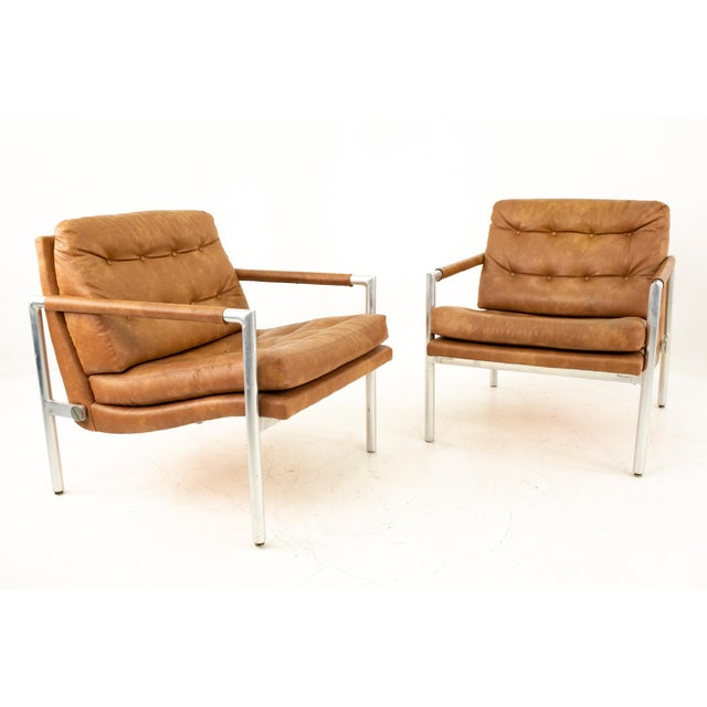 Jack Cartwright for Founders Mid Century Lounge Chairs - Pair Each chair measures: 31 wide x 27 deep x 31 high with a seat...