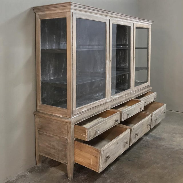 Antique French Louis XVI Whitewashed Bookcase ~ Vitrine For Sale - Image 4 of 13