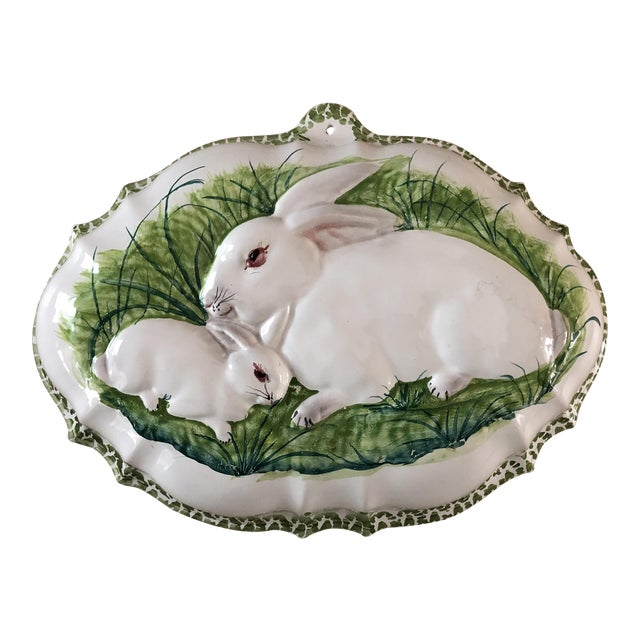 Intrada Italian Majolica Bunny Mold For Sale