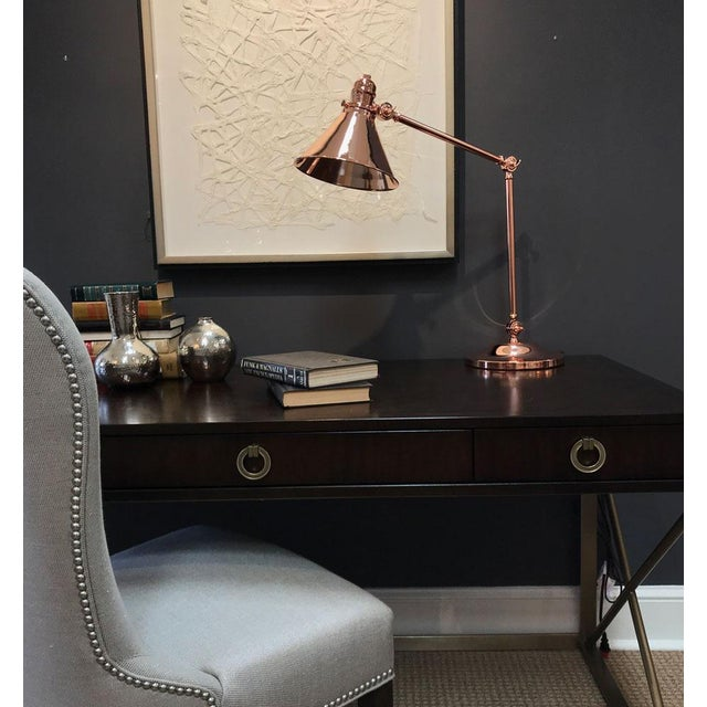 Provence Table Lamp Polished Copper. Can this be used in a kitchen? YES Our Provence study lamps work great as reading...