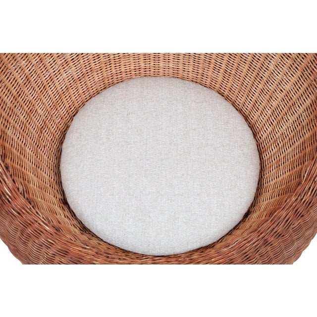 Isamu Kenmochi Rattan Lounge Chair For Sale - Image 10 of 13