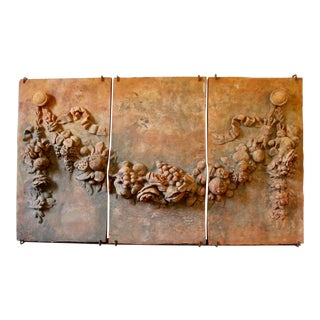 19th-C. Terracotta Relief Panels, S/3 For Sale
