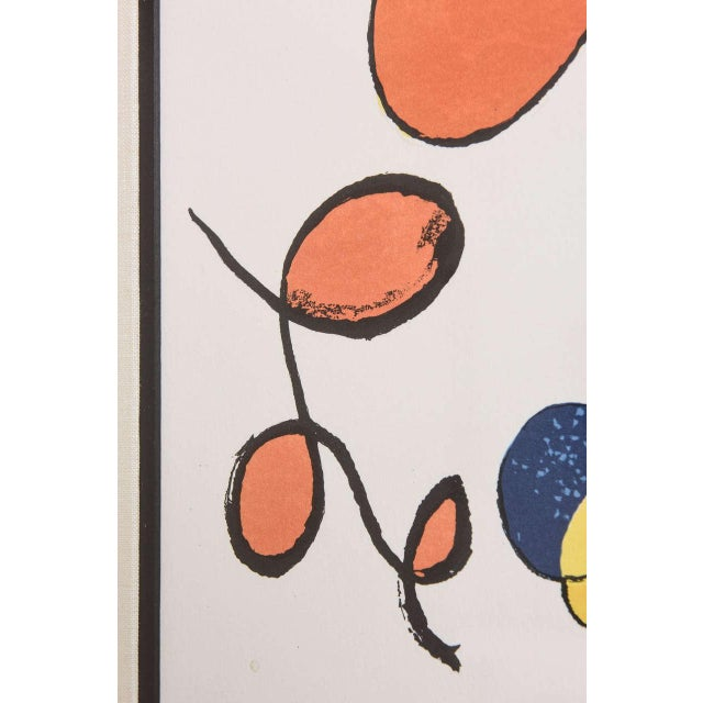 Alexander Calder 20th Century Pencil Signed Color Lithograph by Alexander Calder For Sale - Image 4 of 9