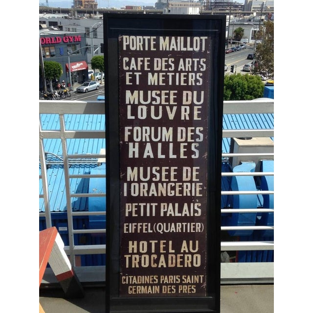 French Train Sign - Image 2 of 7