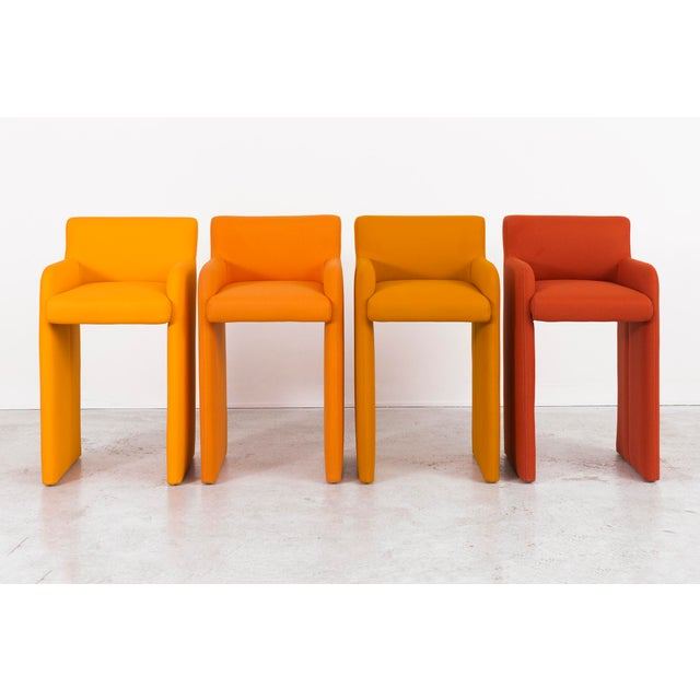 Milo Baughman Gradient Stool Chairs - Set of 4 - Image 9 of 9