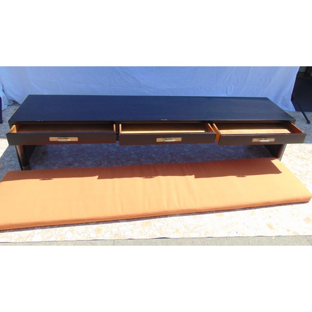 3-Drawer Coffee Table/Bench With Cushion - Image 9 of 11
