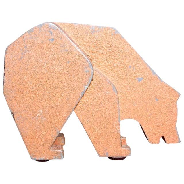 Aluminum and Metal Store Display Bear - Image 1 of 5