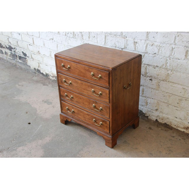 Davis Cabinet Company Vintage Walnut Chest by Davis Cabinet Co. For Sale - Image 4 of 9