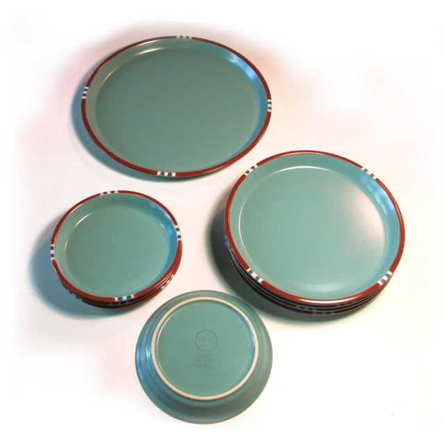 Turquoise Dansk Mesa Dishes, Cream & Sugar, and Platter - Set of 4 - Image 3 of 6