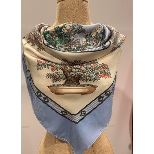 "Traditional Hermès ""Bonsai"" Vintage Silk Scarf For Sale - Image 3 of 6"