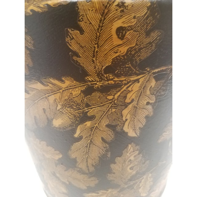 English Antique Bucket / Pail With Decoupage Leaves - Found in Southern England For Sale - Image 9 of 12