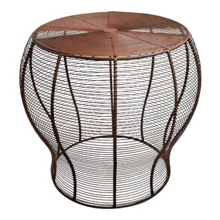 Vintage Wire Side Table For Sale