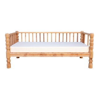 Mother of Pearl Inlaid British Colonial Daybed For Sale