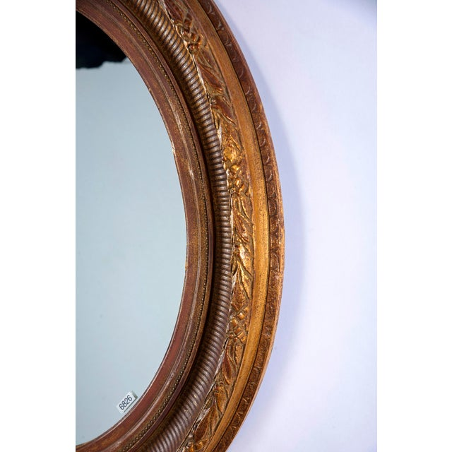 Late 19th Century Near Pair 19th Century Carved Gilt Wood and Gesso Mirrors For Sale - Image 5 of 8