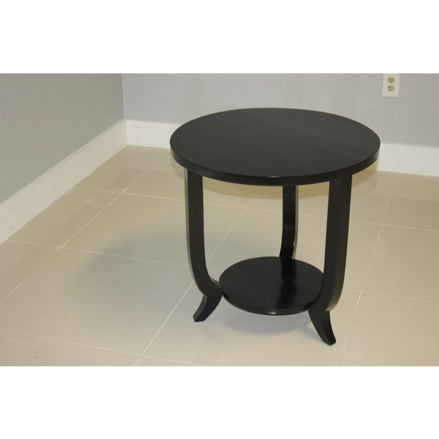 Ebony 1940s French Art Deco Black Ebonized Coffee / Side Table For Sale - Image 7 of 13