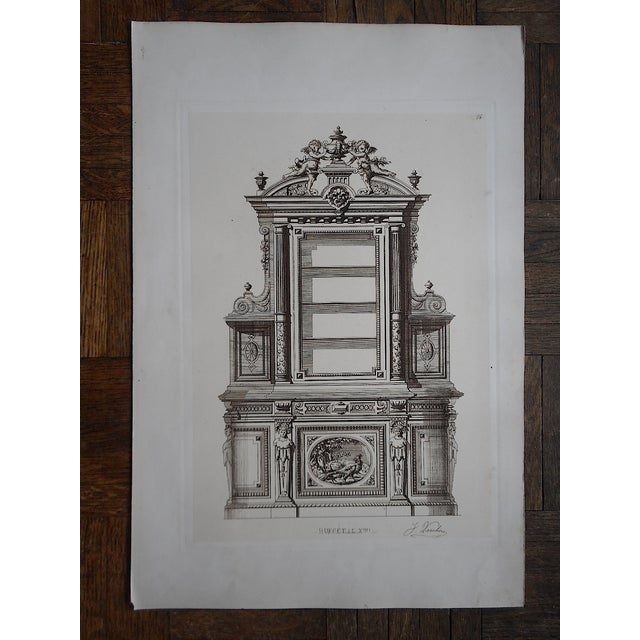 Antique Furniture Lithograph Folio Size - Image 3 of 3