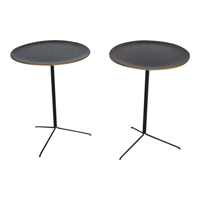 1950s Mid-Century Modern Osvaldo Borsani for Tecno Occasional Tables - a Pair For Sale