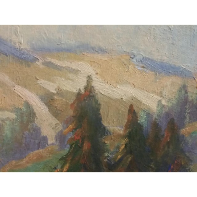 Oregon Impressionist Oil Painting of Mt. Hood - Image 4 of 8