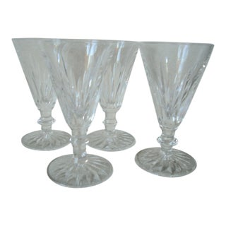 1980s Waterford Crystal Dessert Wine Stems - Set of 4 For Sale