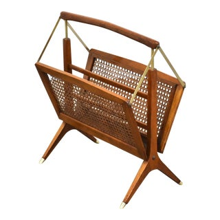 Italian Magazine Rack by Cesare Lacca For Sale