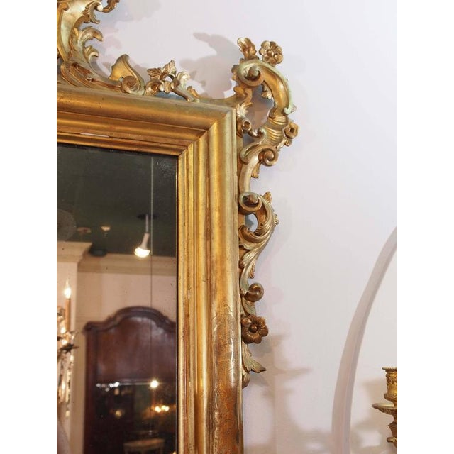 Antique Italian Gilt Wood Mirror - Image 3 of 7