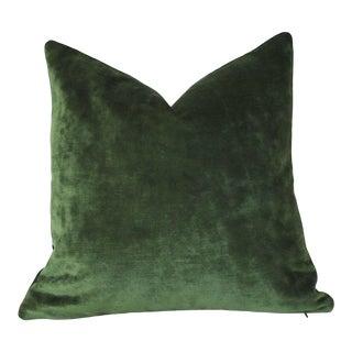 Dark Green Velvet Euro Sham 24x24 For Sale