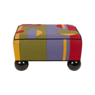 Colorful Limited Edition Ottoman For Sale