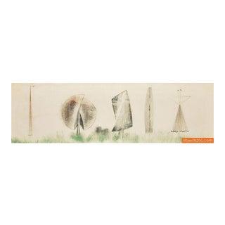 Large Harry Bertoia Monoprint