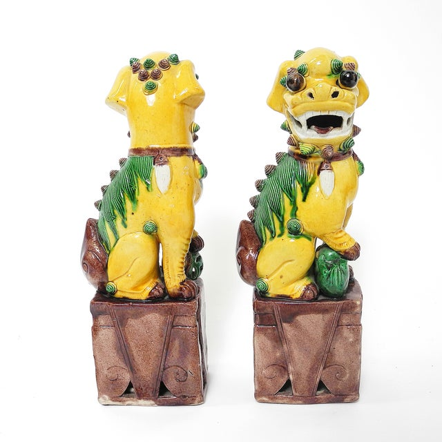 Sancai Chinese Export Foo Dogs - Pair - Image 5 of 7