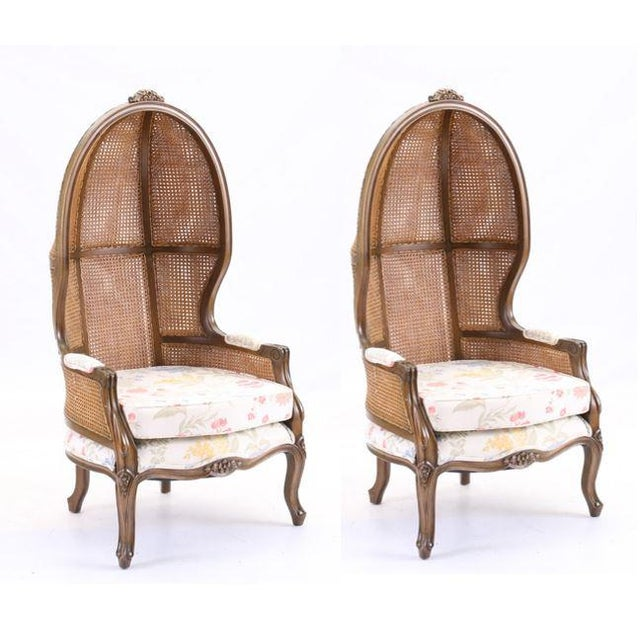 Mid 20th Century Vintage Mid Century Fully Cane Backed Porter Chairs - A Pair For Sale - Image 5 of 13