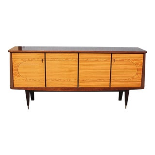 1940s Art Deco Exotic Mahogany Sideboard For Sale