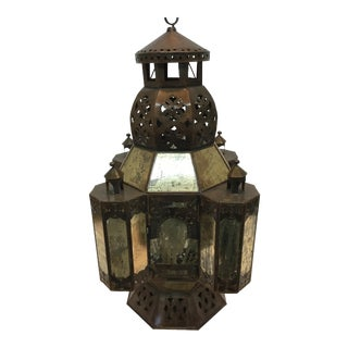 Copper Moroccan Candle Lamp For Sale