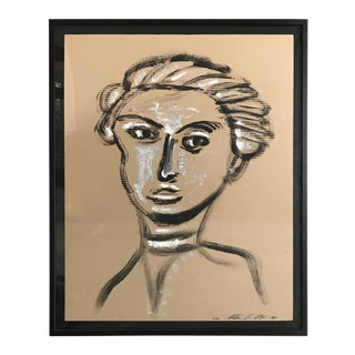 Contemporary Abstract Portrait IX by William McLure For Sale